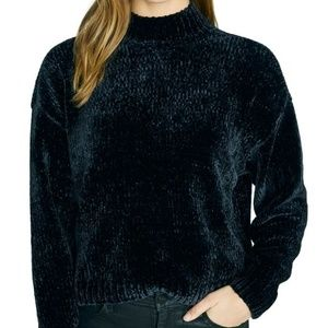 Sanctuary Chenille Pullover Sweater Mock Warm S